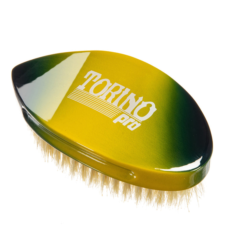 Torino Pro Wave brush #128-Pointy Curve Palm- Medium - Extra Long -100% Boar Bristles