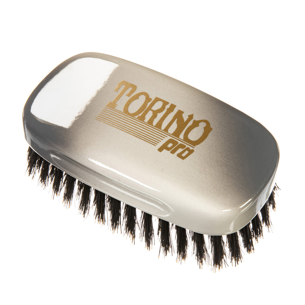 Torino Pro Wave brush #129-Square palm brush- medium -extra long -100% boar bristles