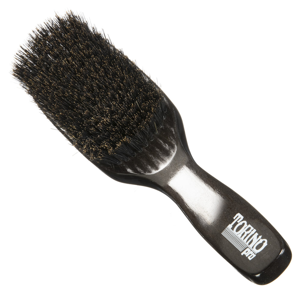 Torino Pro Wave Brush #1370- 11 Row Soft - Long Handle Wave Brush for 360 Waves