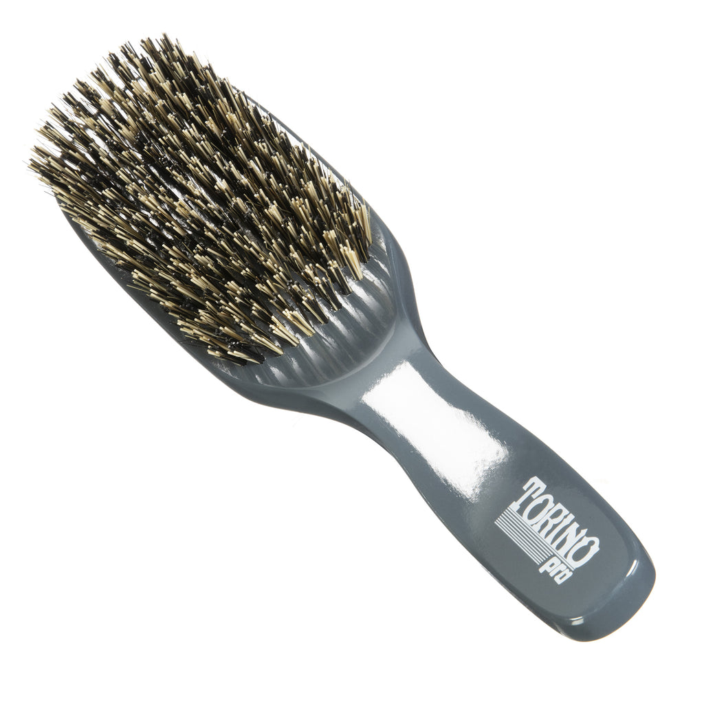 Torino Pro Wave Brush #1380 - 11 Row Hard  - Long Handle Wave Brush for 360 Waves