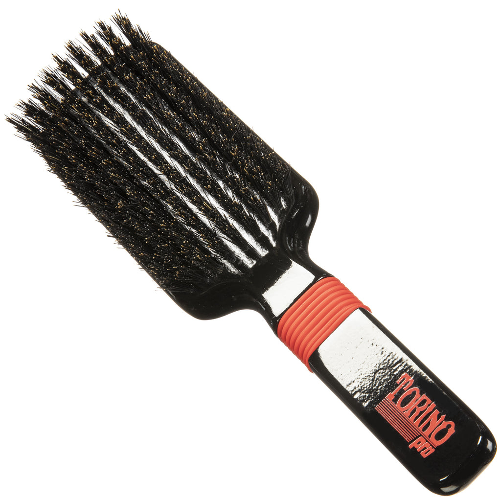 Torino Pro Wave Brush #1550- Medium Wave Brush - Rubber Grip Vertical Brush - 360 Wave Brushes - Great for connections and Wolfing