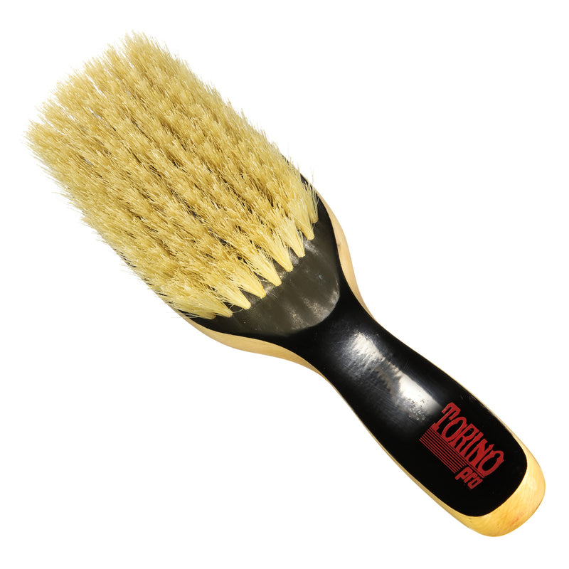 #1580 Torino Pro Soft Wave brush By Brush King - Duet Collection - 9 row extra long bristles- 360 Wave brushes