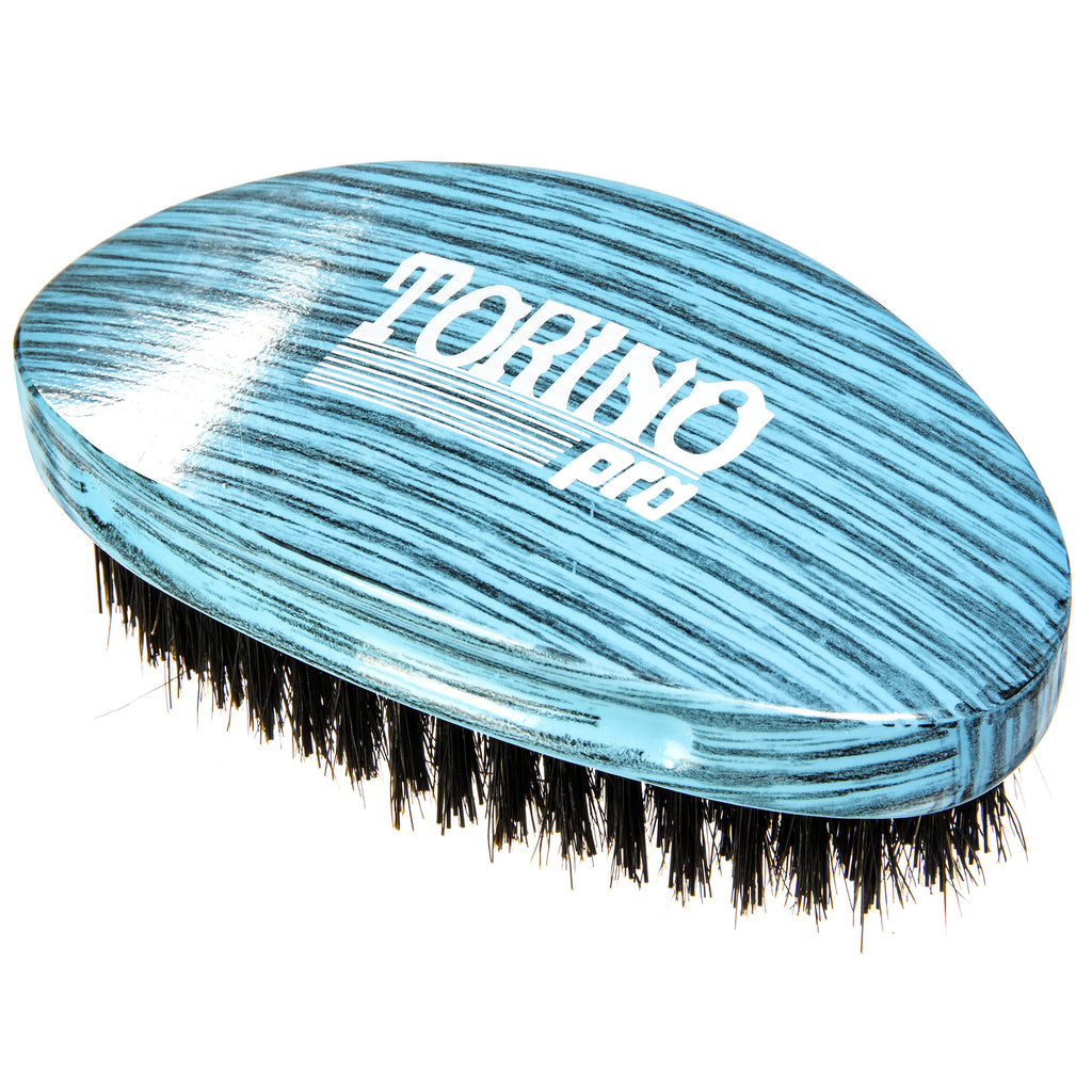 Torino Pro Wave Brush #1770 - Medium Hard Palm Curve Wave Brush By Brush King - 360 Curved Medium Hard Palm - Great for Wolfing - For 360 Waves