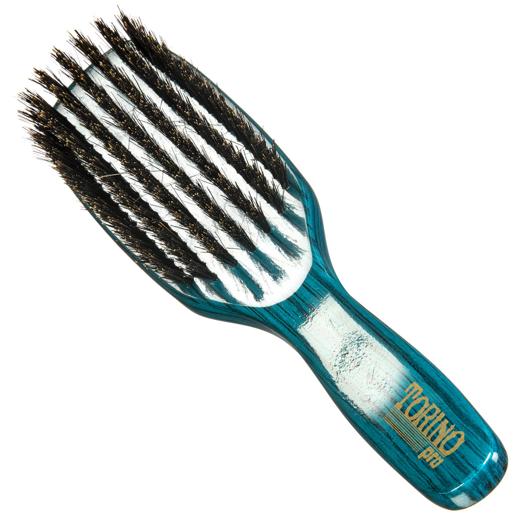 #1820 Torino Pro Medium Wave Brush By Brush King - - 7 Row Medium Waves Brush - Great pull - Great for connections - for 360 waves