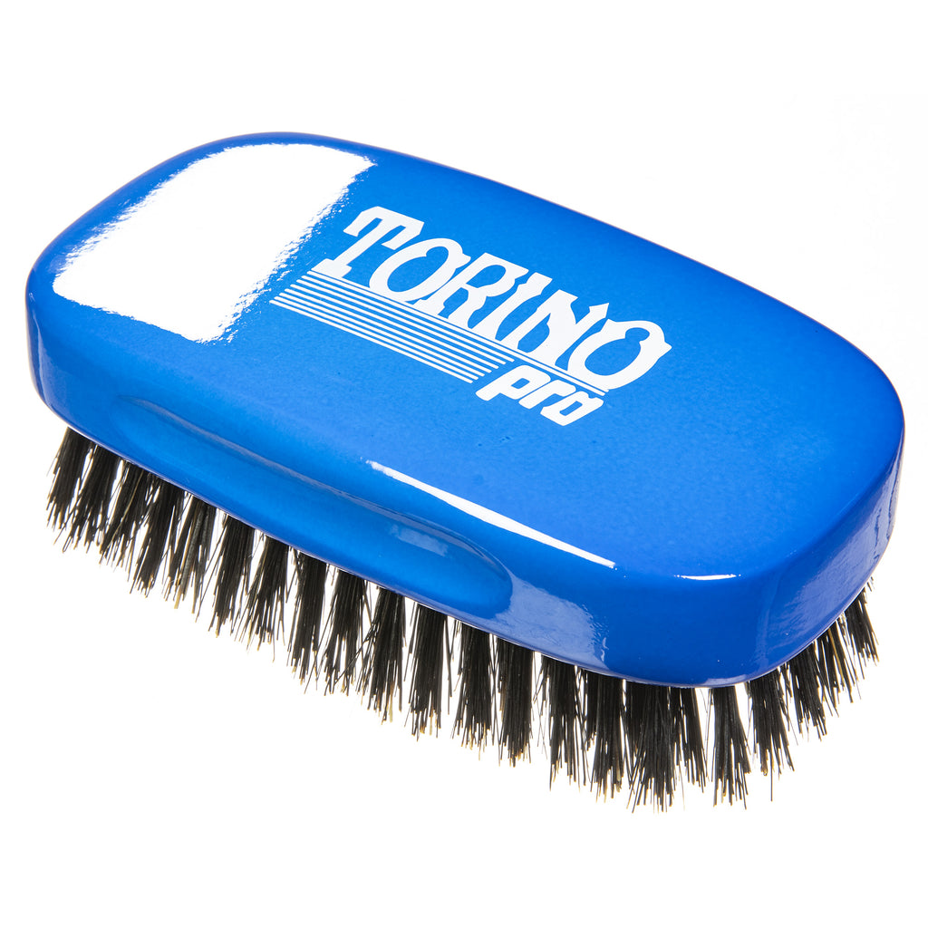 #1890 Torino Pro Medium 7 Row Palm Wave Brush By Brush King -  - Firm Medium Palm waves brush with great pull - Great for Connections and Wolfing - For 360 Waves