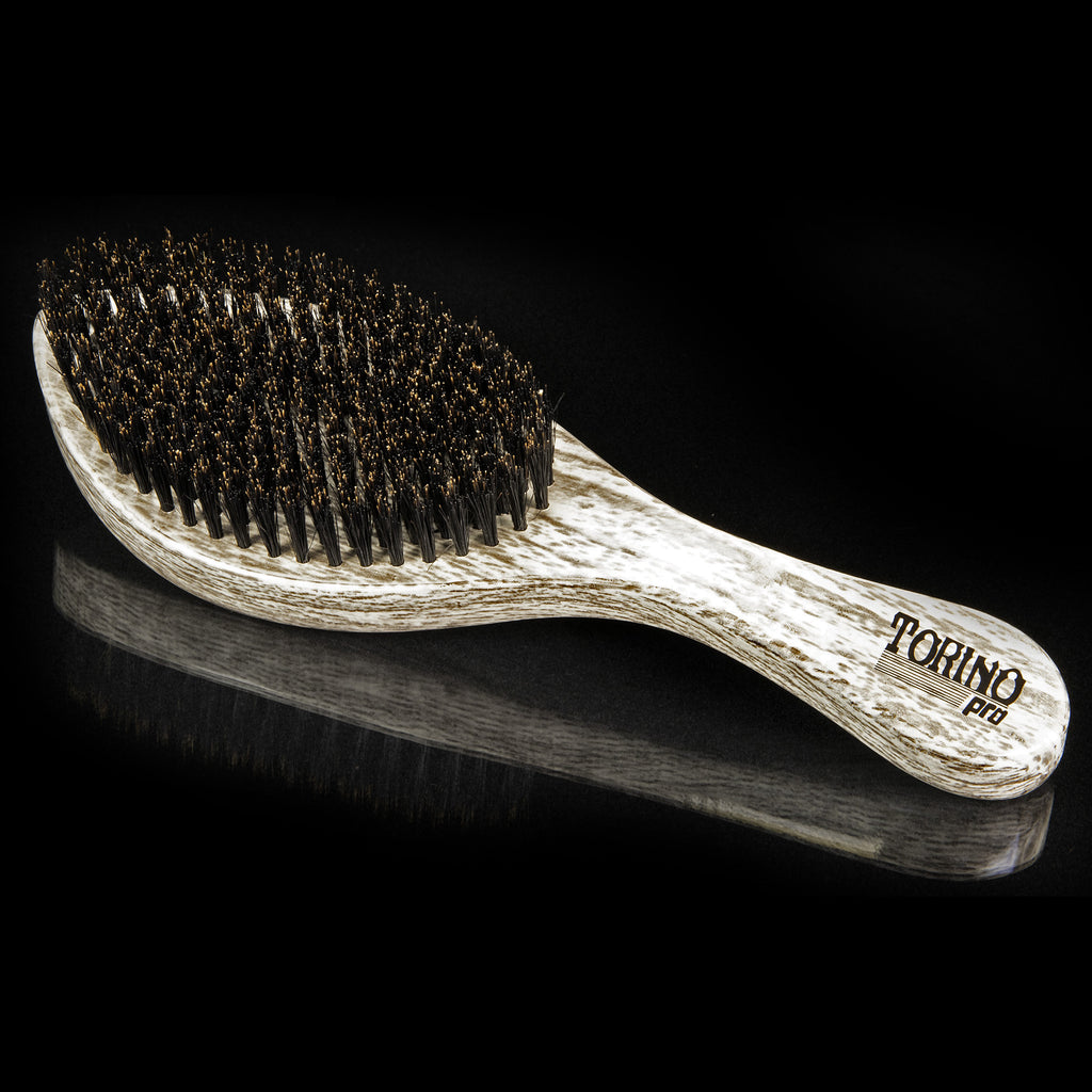 #1980 Torino Pro Medium Curve Wave Brush By Brush King  - 360 Curved Medium Waves brush - Great for beginners to develop wave and also great for connections - For those trying to achieve Elite Waves