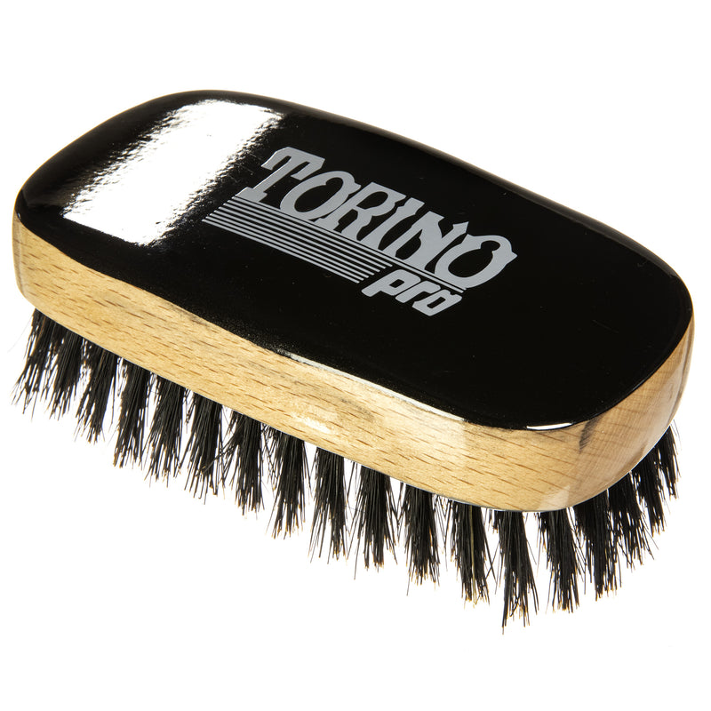 Torino Pro Wave Brushes By Brush King #31- Soft Squared 11 row Palm Brush - Patented Design - Great brush for laying and polishing your 360 waves