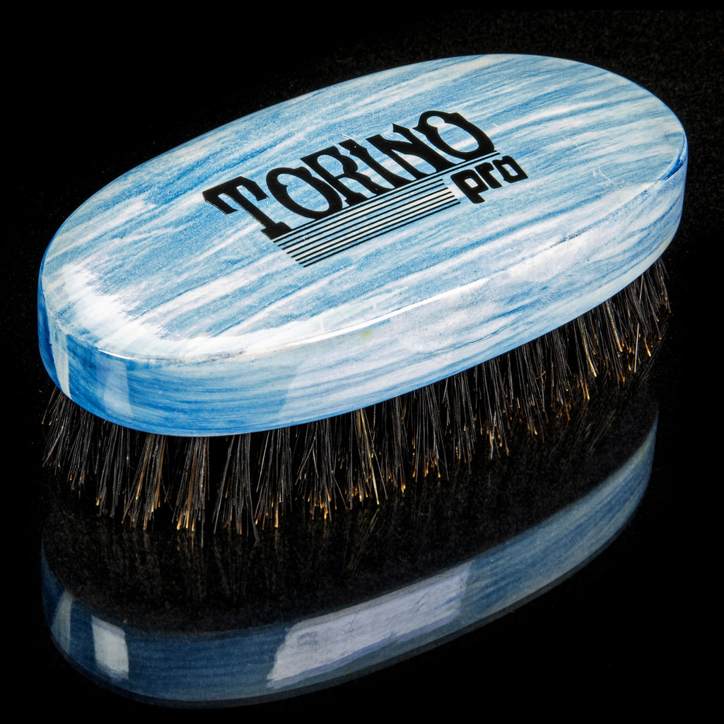Torino Pro Wave Brushes By Brush King #32- Medium Palm Oval Palm brush - For 360 waves