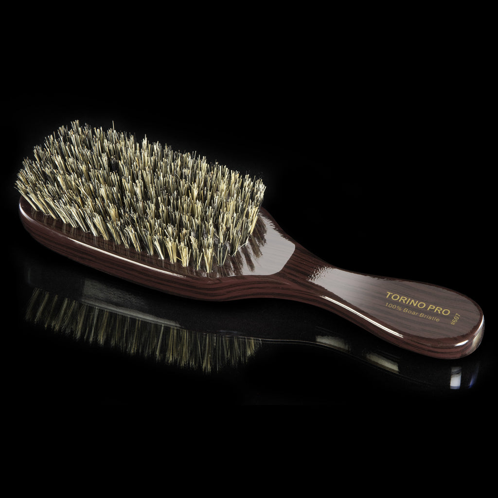 #607 Torino Pro Medium Brush By Brush King - #607 - 7 row Medium Bristles - Great for wolfing and Connections - brush for 360 Waves