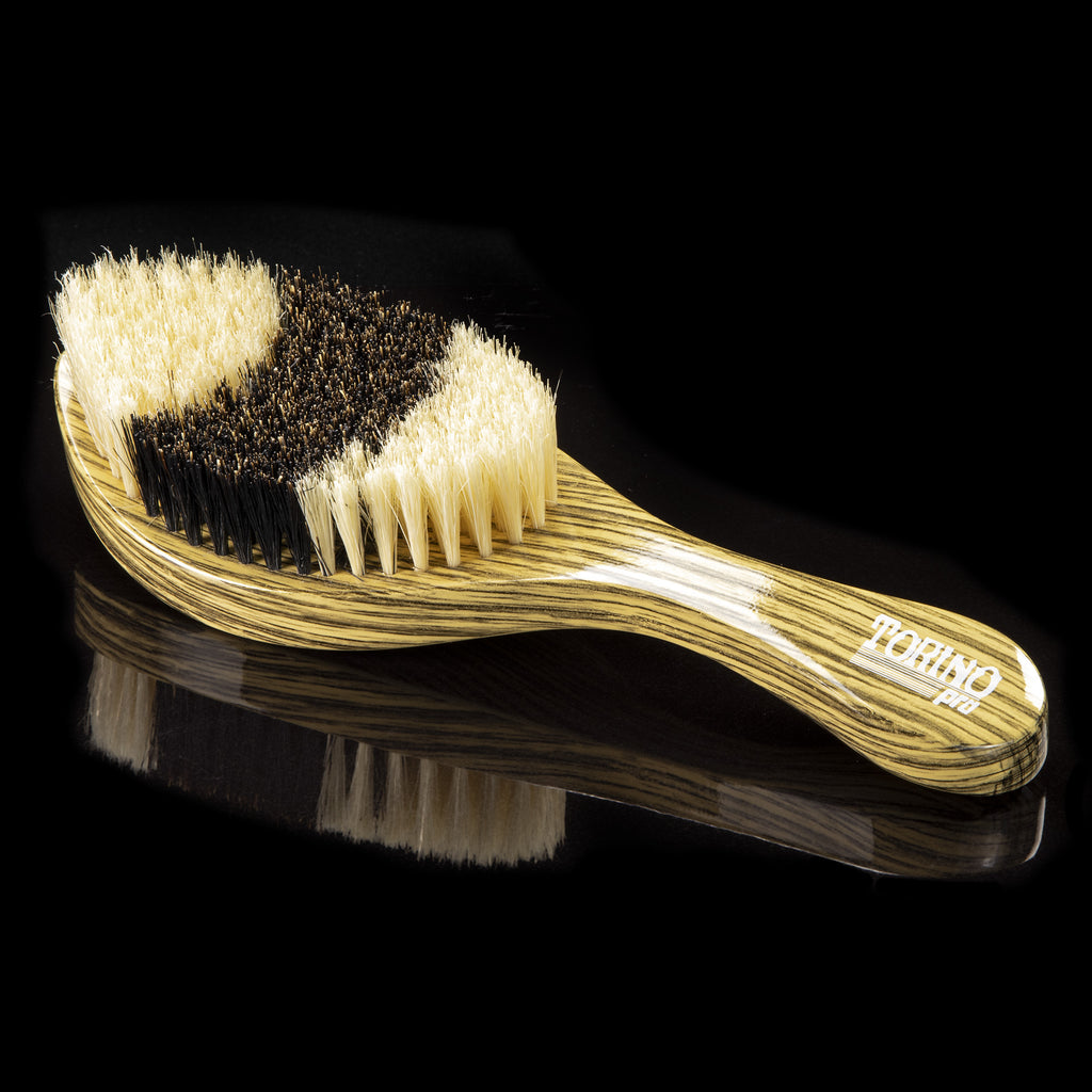Torino Pro Wave Brushes by Brush king #54- Hybrid Brush With medium and Soft Bristles