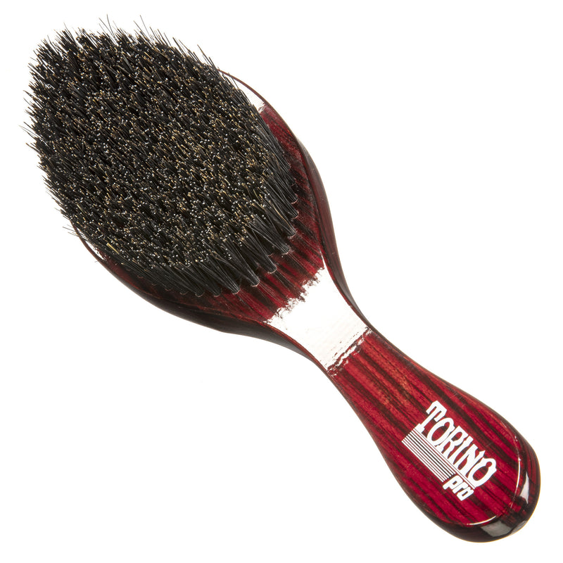 Torino Pro Wave Brush #570 - Medium hard Curved Long Handle  - Wave Brush for 360 Waves (Curve Brush)