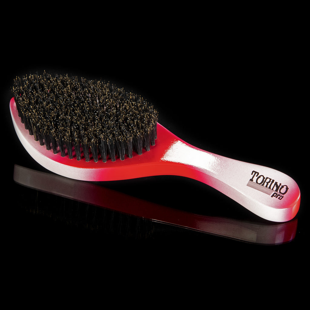 Torino Pro Wave Brushes by Brush king #57- Medium Hard Curve 360 Waves Brush