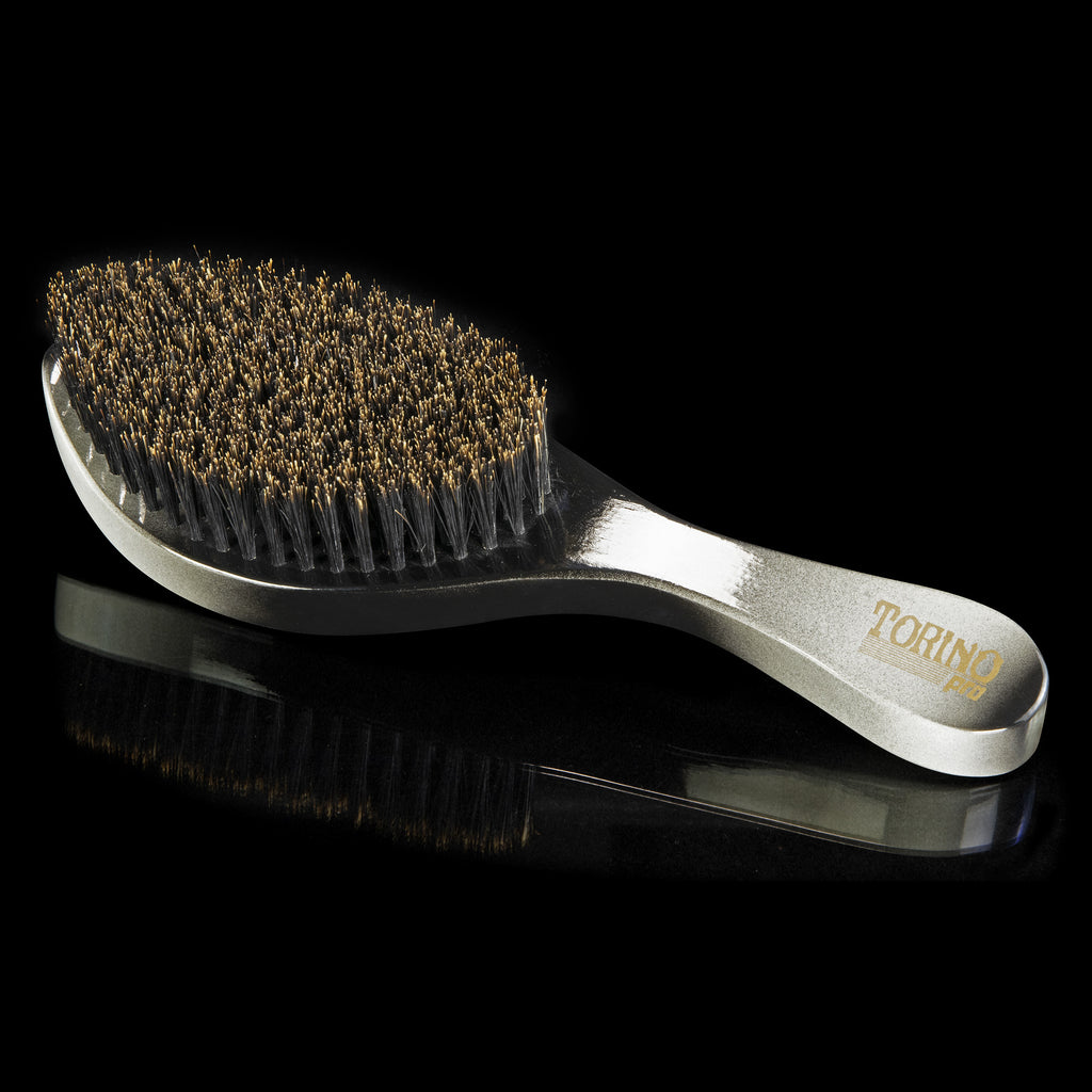 Torino Pro Wave Brushes by Brush king #58- Medium Curved 360 Waves Brush