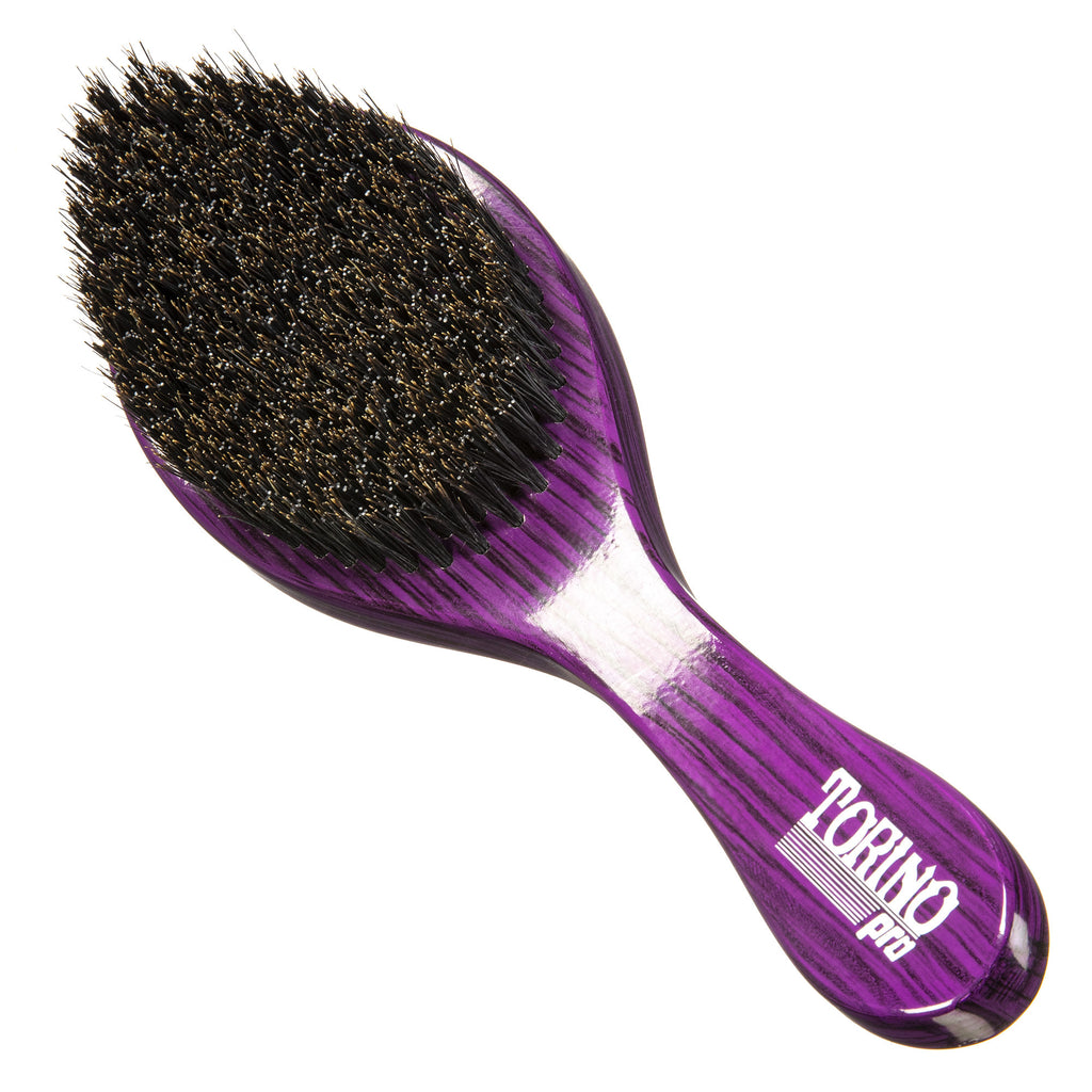 Torino Pro Wave Brush #600 - Medium Hard Curved Long Handle  - Wave Brush for 360 Waves (Curve Brush)