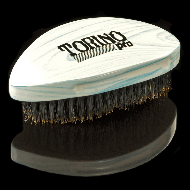 Torino Pro Wave Brushes by Brush king #68- Pointy Soft Curved Palm 360 waves Brush