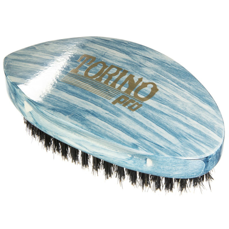 Torino Pro Wave Brushes by Brush king #70- Medium Pointy Curve Palm 360 Waves Brush