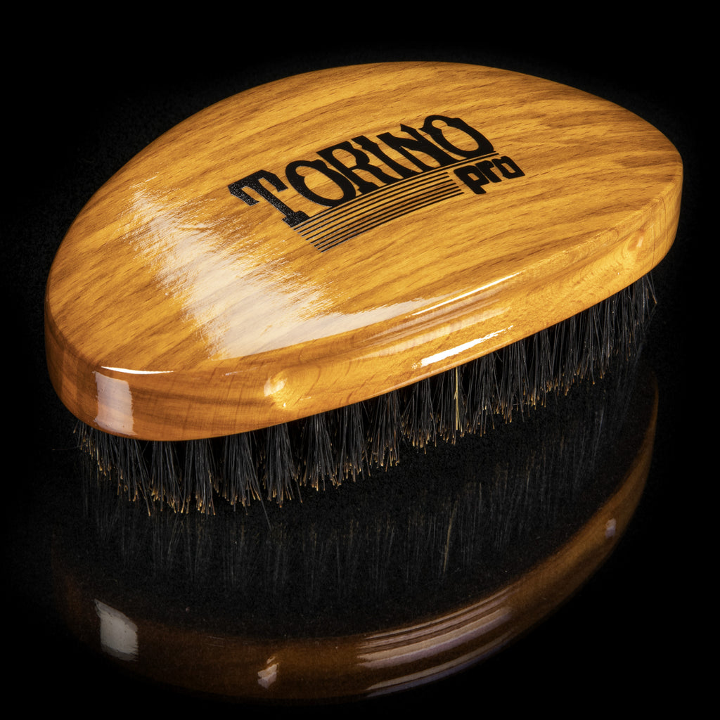 #710 Torino Pro  - Curved Palm, Medium Soft Wave Brush for 360 Waves (Curve Brush)
