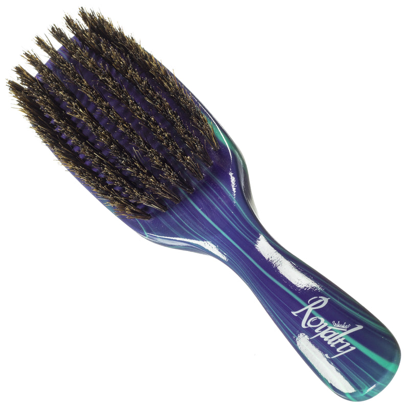 Royalty By Brush King Wave Brush #727-7 Row Firm Medium- Great 360 waves brush for Wolfing