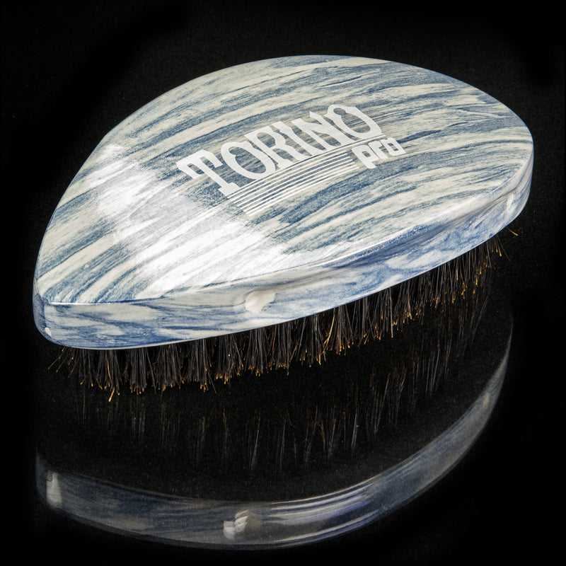 Torino Pro Wave Brushes by Brush king #73- Medium Hard Pointy Curved 360 Waves brush