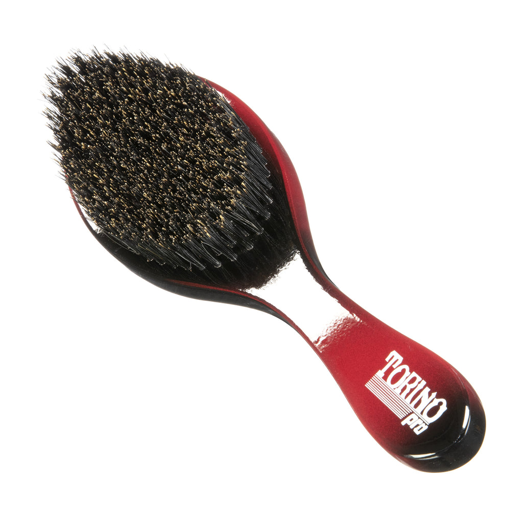Torino Pro Wave Brushes By Brush King #84- Medium Firm Curve brush - Great 360 waves brush for Wolfing