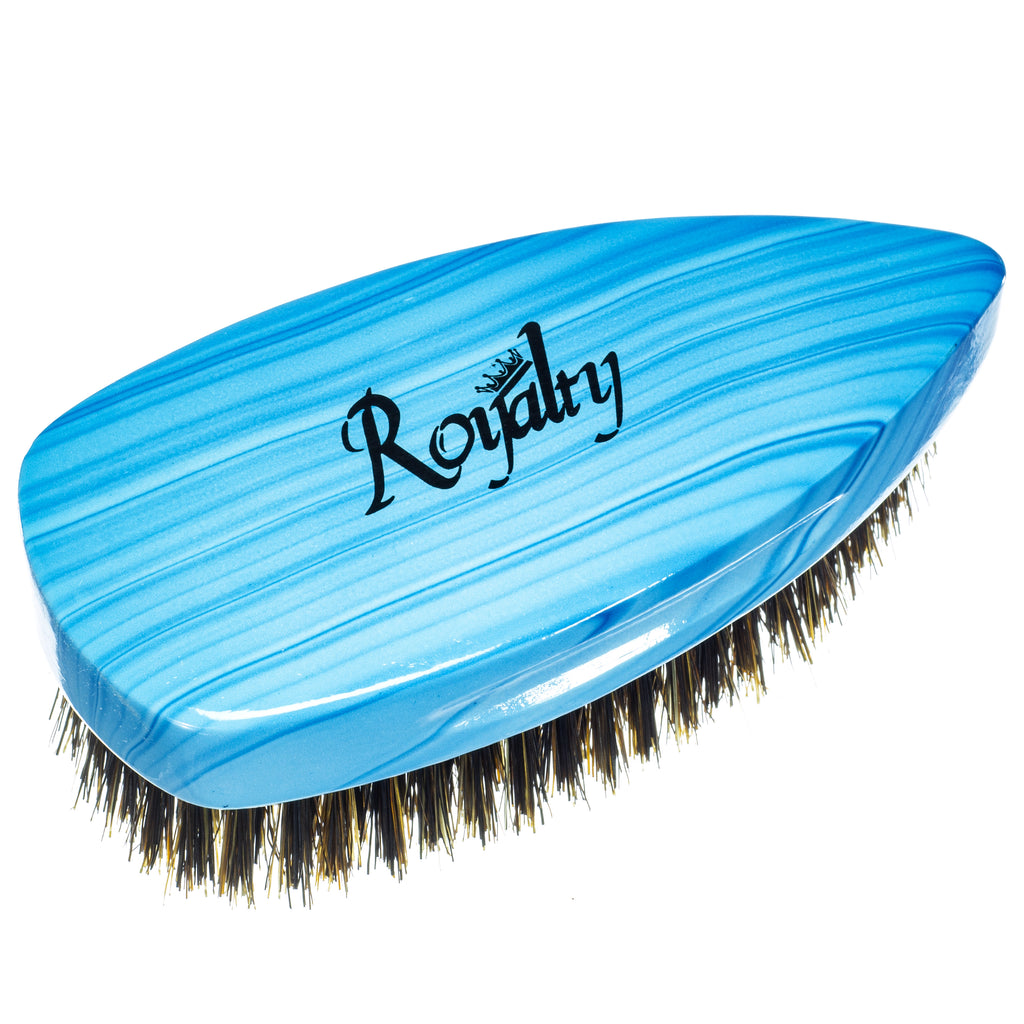 Royalty By Brush King Wave Brush #904- Medium Pointy Palm Brush - Patented 360 waves brush