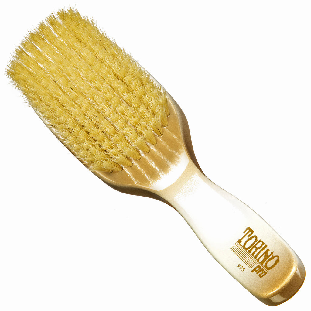 Torino Pro Wave Brushes By Brush King #95-9 Row Soft Waves Brush- great for laying and polishing your 360 waves