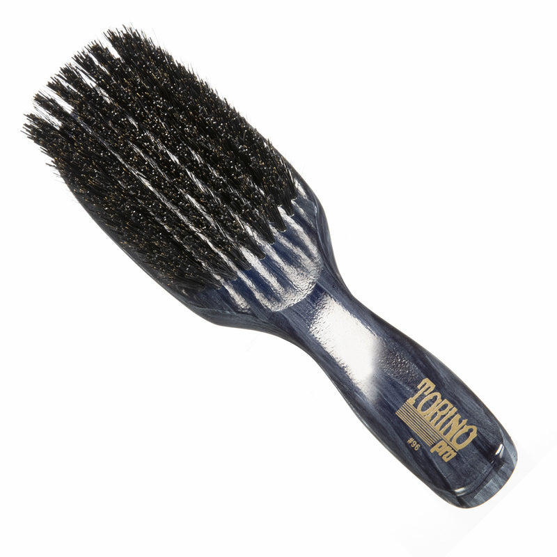Torino Pro Wave Brushes By Brush King #96-9 row Hard brush - Great for wolfing - Great 360 waves brush