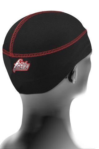 TSURAG 1 Black and Red  STRINGLESS DURAG for 360 waves