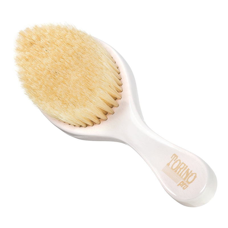 Torino Pro Wave Brush #640 - Soft Curved Long Handle  - Wave Brush for 360 Waves (Curve Brush)