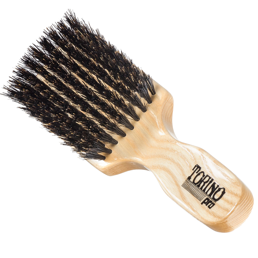 Torino Pro Club Brush #830 (MEDIUM) by Brush King - Men's Travel Size Hair Brush, Club Style - 100% Pure Boar Bristles - Great for ALL HAIR TYPES and Beards