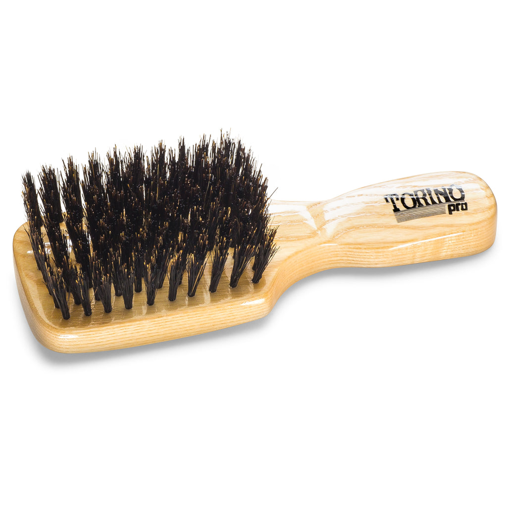 #830 Club Brush, Medium Torino Pro - Travel Size Wave Brush, Great for ALL HAIR TYPES, 360 Waves and Beards