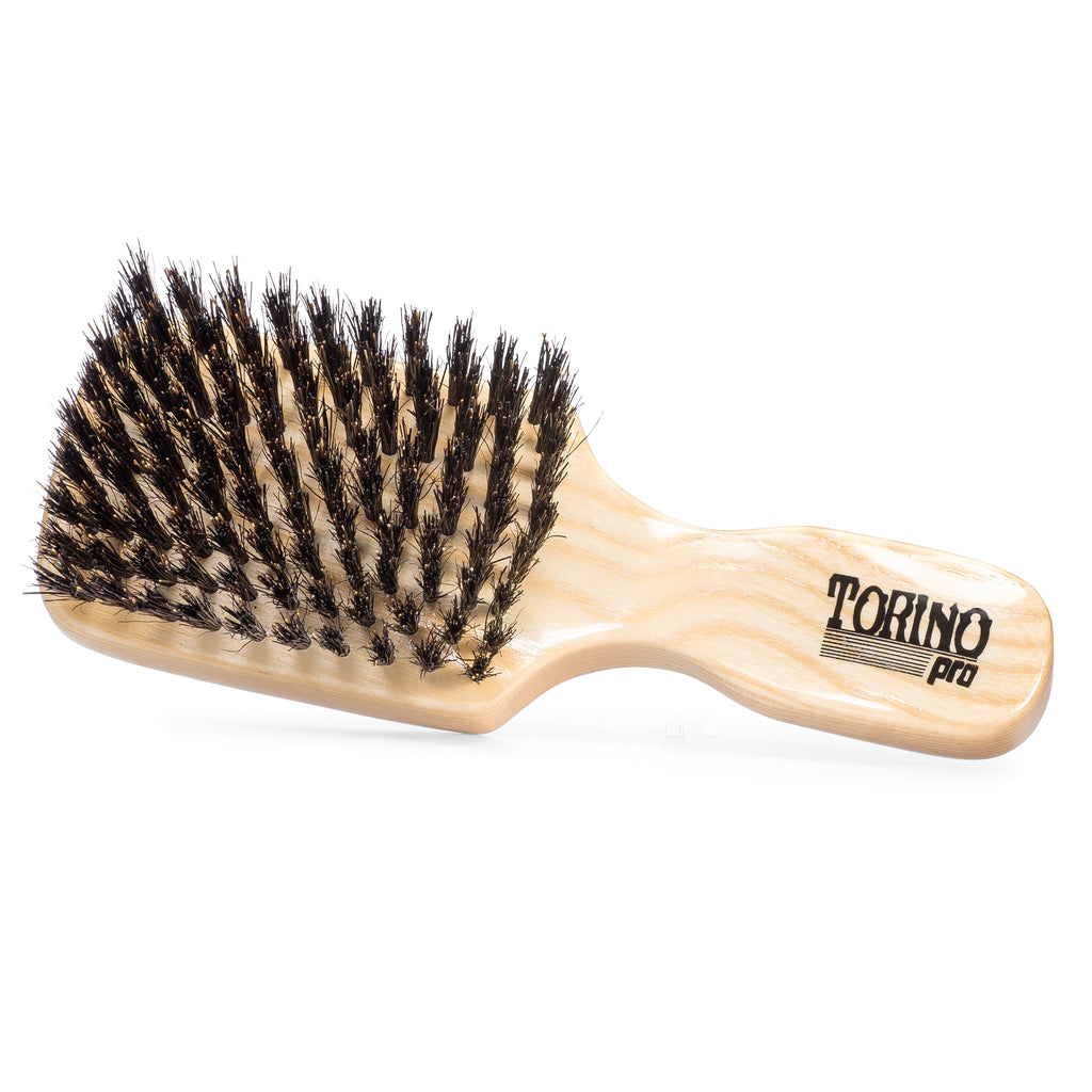 Club Brush, Medium #830 Torino Pro - Travel Size Wave Brush, Great for ALL HAIR TYPES, 360 Waves and Beards