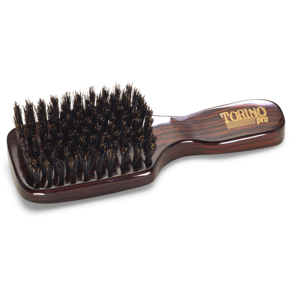 Club Brush, Medium #840 Torino Pro - Travel Size Wave Brush for 360 Waves, Great for ALL HAIR TYPES