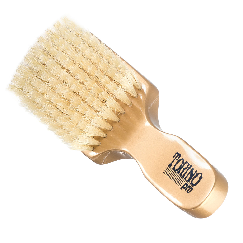 Torino Pro Club Brush #860 (SOFT) by Brush King - Men's Travel Size Hair Brush, Club Style - 100% Pure Boar Bristles - Great for Beards, Thinning Hair, Fine Hair, Sensitive Scalps and Babies