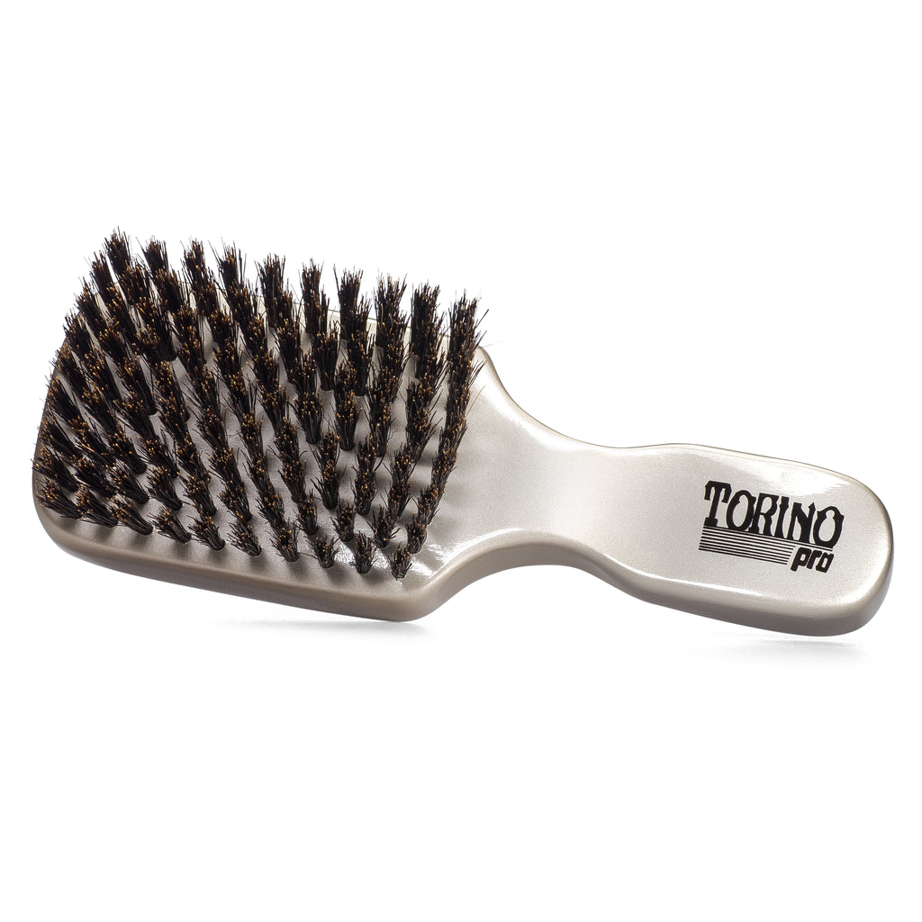 Torino Pro Club Brush #880 (FIRM SOFT) by Brush King - Men's Travel Size Hair Brush, Club Style - 100% Pure Boar Bristles - Great for Beards, Thinning Hair, Fine Hair, Sensitive Scalps and Babies