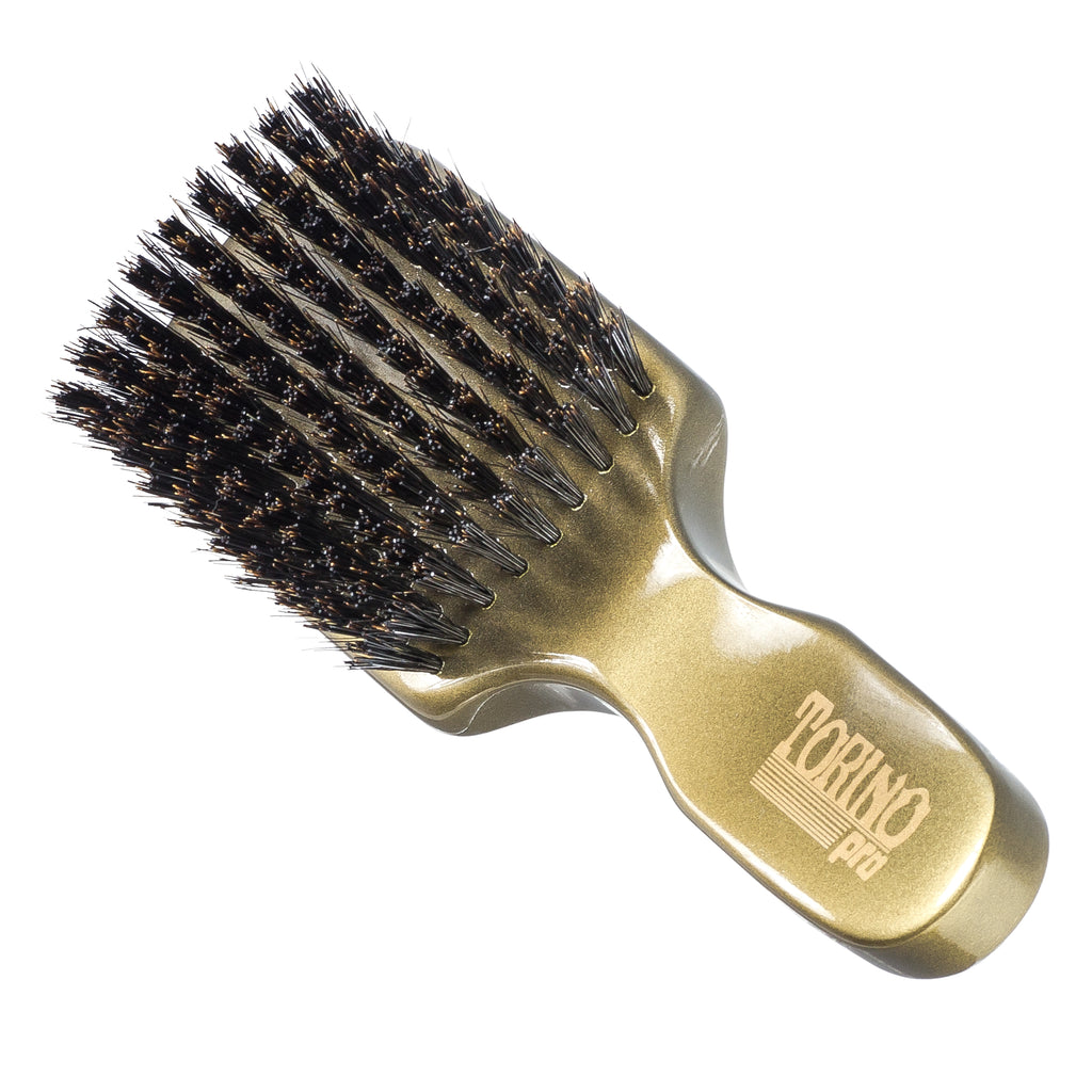 Club Brush, Medium Hard #890 Torino Pro - Travel Size Wave Brush for 360 Waves, Great for Thick or Coarse Hair