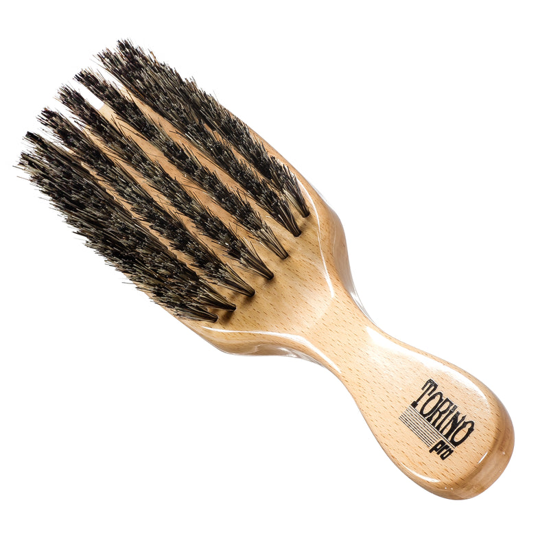 Torino Pro #910 - Long Handle, 7 Row Soft Wave Brush for 360 Waves