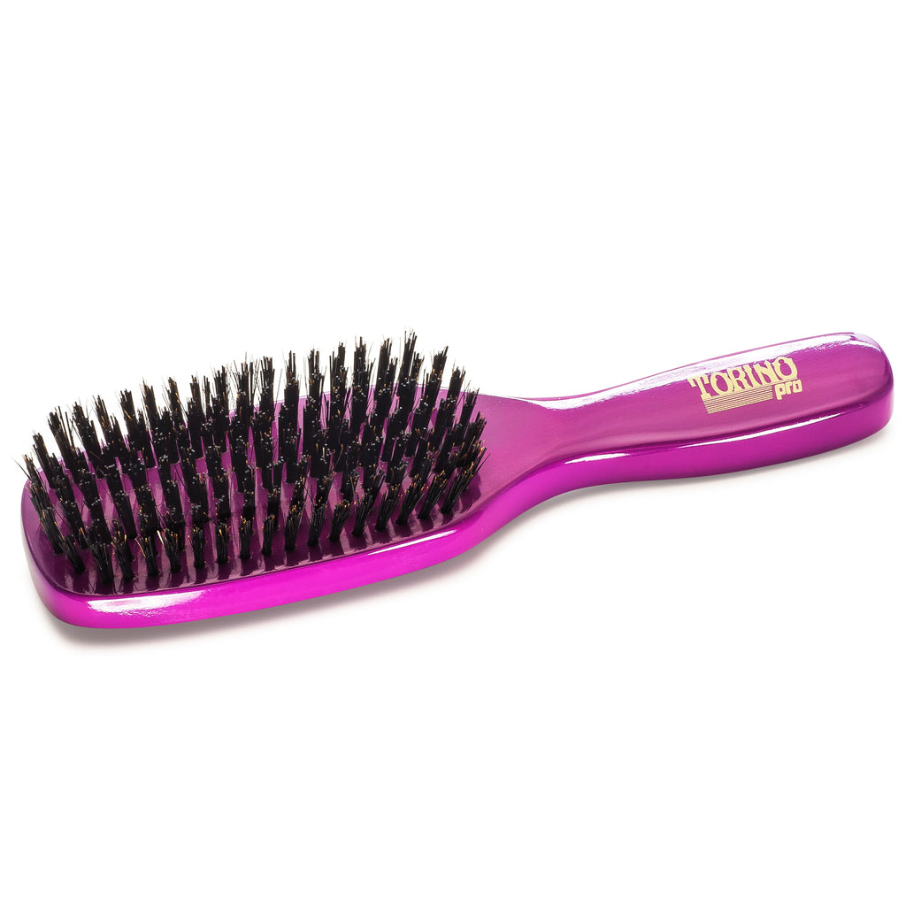 Torino Pro #930 - Long Handle, 7 Row Hard Wave Brush for 360 Waves