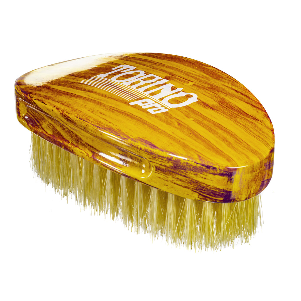 Torino Pro Wave Brushes By Brush King #18- Medium Curve Palm Brush- For 360 waves