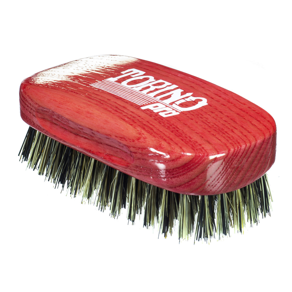 Torino Pro Wave Brushes By Brush King #28- Medium Hard Squared 11 Row Palm Brush- Great for Wolfing - For 360 waves