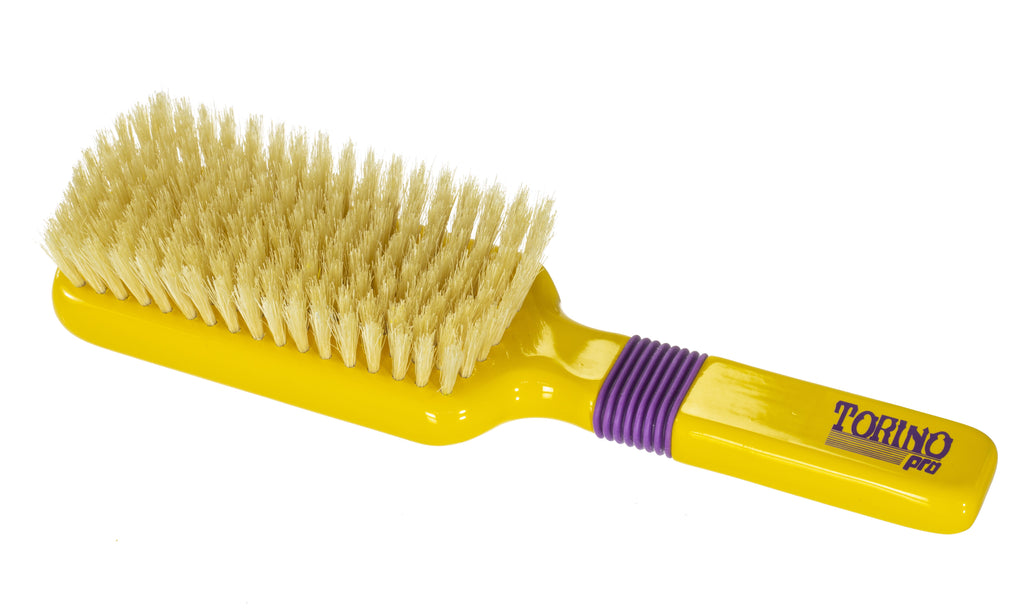 Torino Pro Wave Brushes By Brush King #36- Rubber Grip Soft Vertical Brush - 9 Rows 360 Wave Brush - Great for connections
