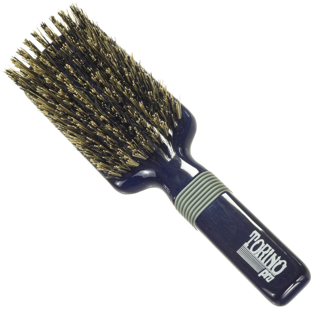 Torino Pro Wave Brushes By Brush King #38- Rubber grip Medium Hard Vertical Brush - 9 rows - 360 Wave brushes - Great For connections and Wolfing