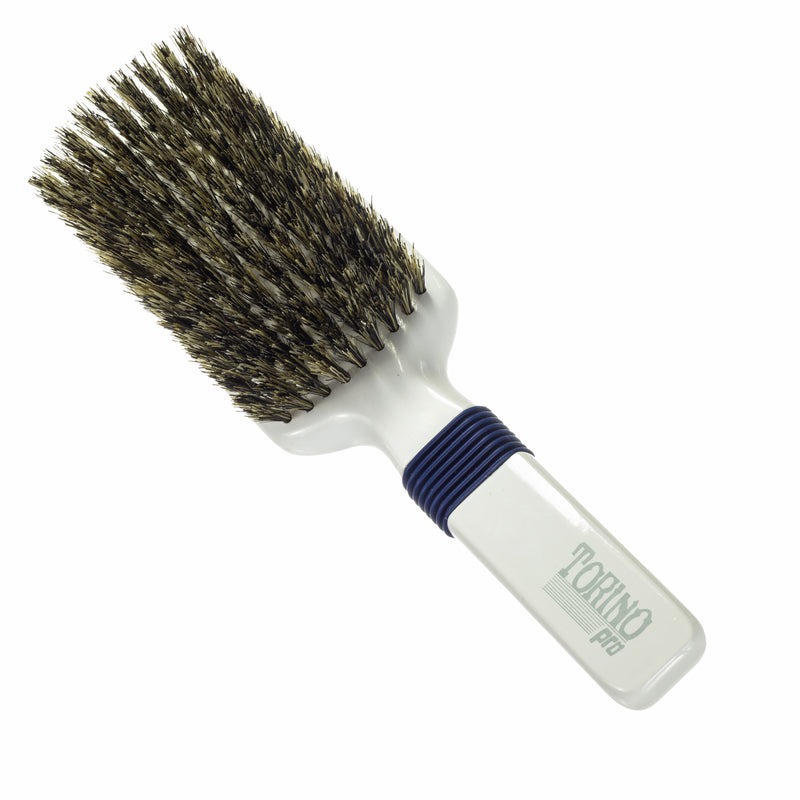 Torino Pro Wave Brushes By Brush King #48- Rubber Grip Medium Vertical Brush - 360 Wave Brushes - Great for connections and Wolfing