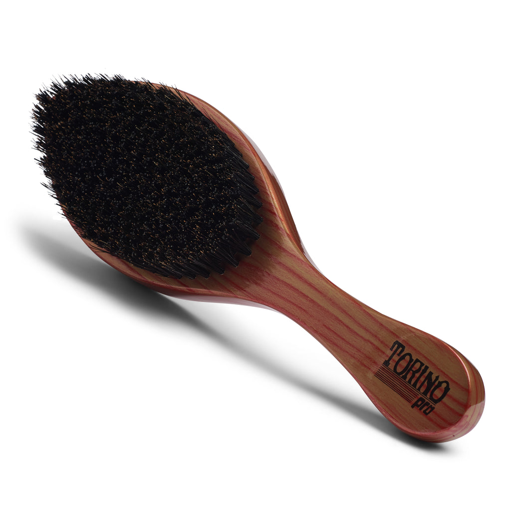 Torino Pro Wave Brushes by Brush king #61- Medium Hard Curve 360 Waves Brush for Wolfing