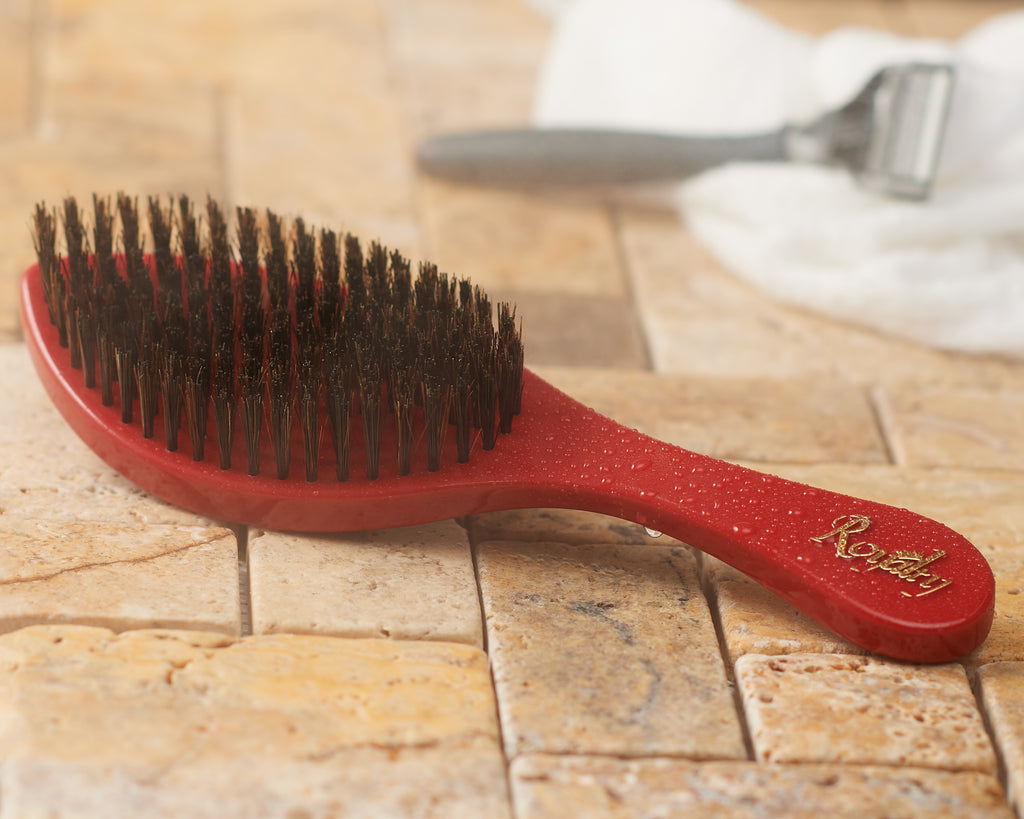 Royalty Medium Hard SHOWER Wave Brush #BK1 for Wash N' Style - Wave Brush for 360 Waves