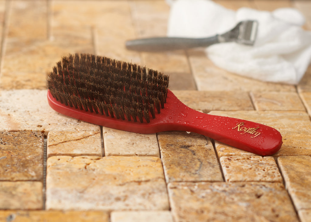 Royalty Medium SHOWER Wave Brush #735 for Wash N' Style - Wave Brush for 360 Waves