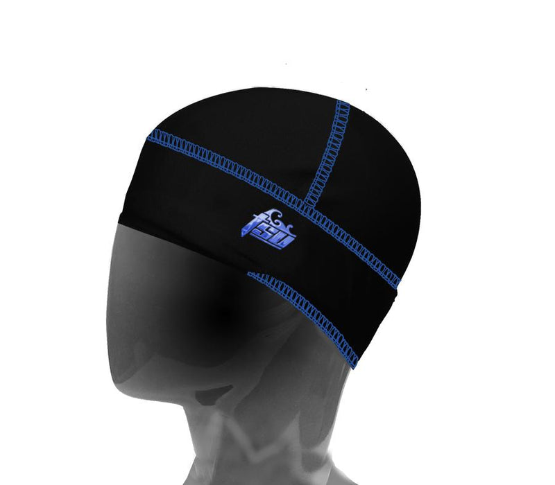 Black and Royal blue Tsurag 3 compression cap for 360 waves