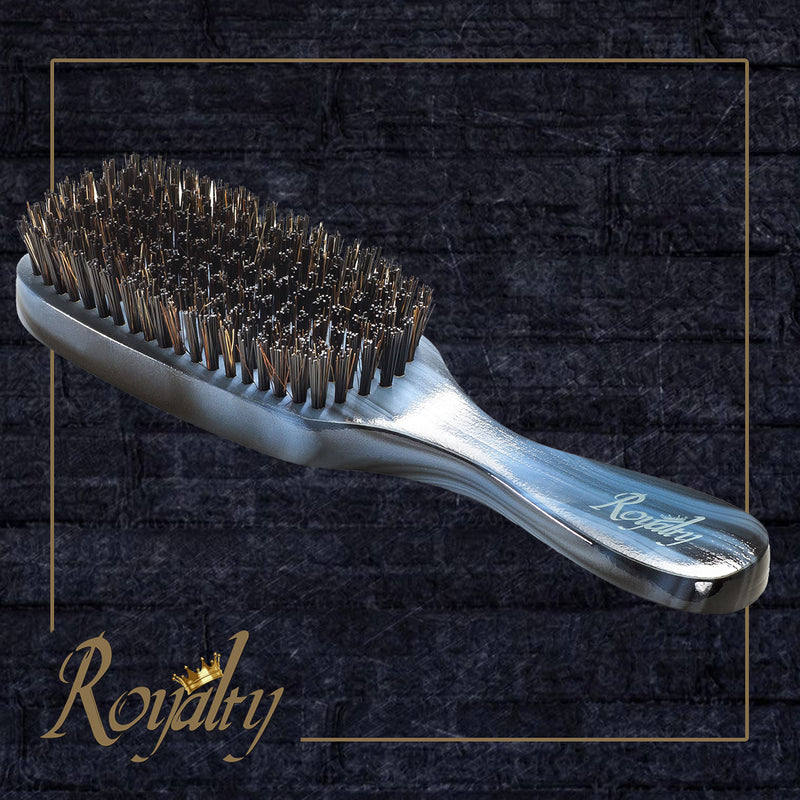 Royalty Hard Wave Brush #718 Wave Brush for 360 Waves (THE GRIM REAPER)