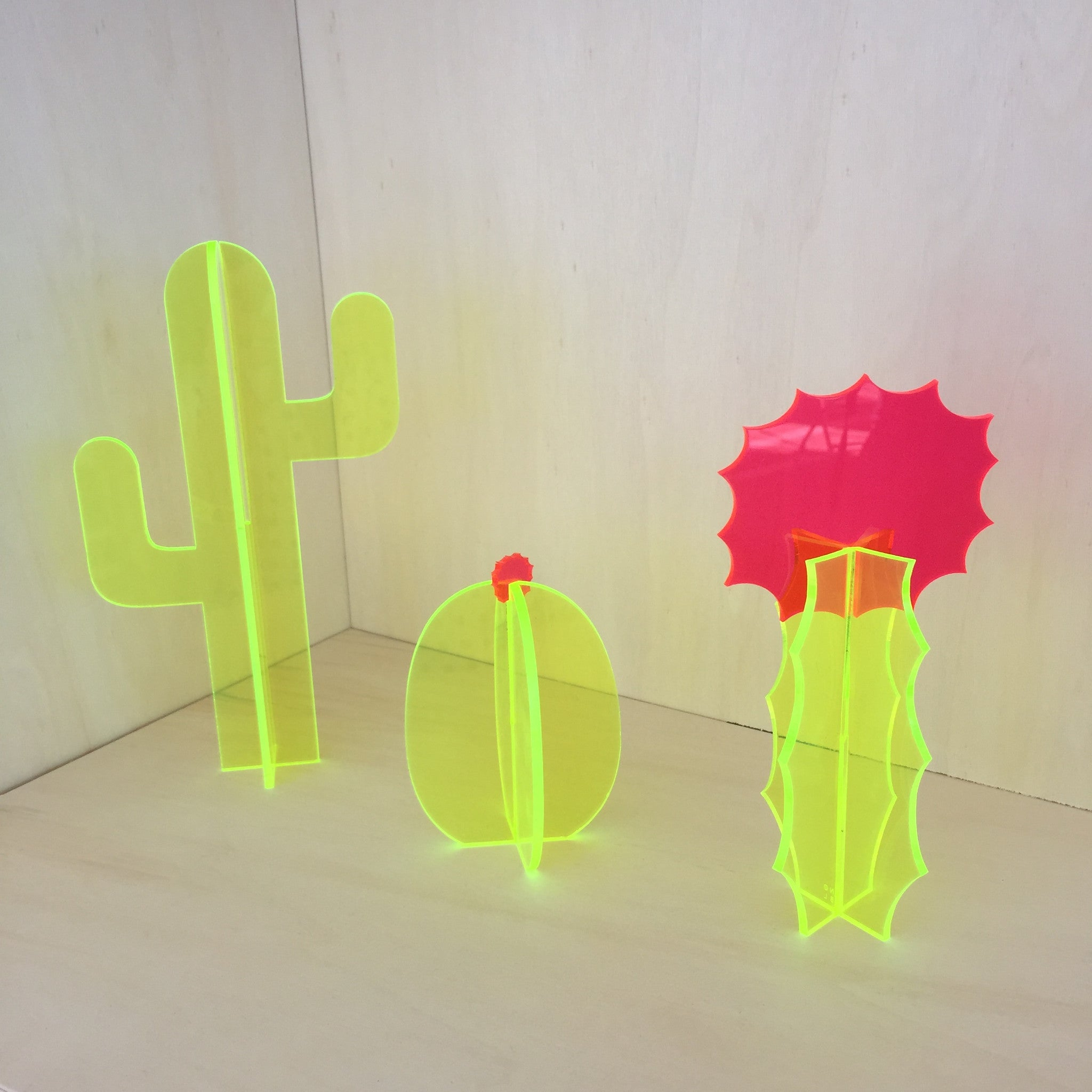 Small Fluorescent  Cactus Sculpture