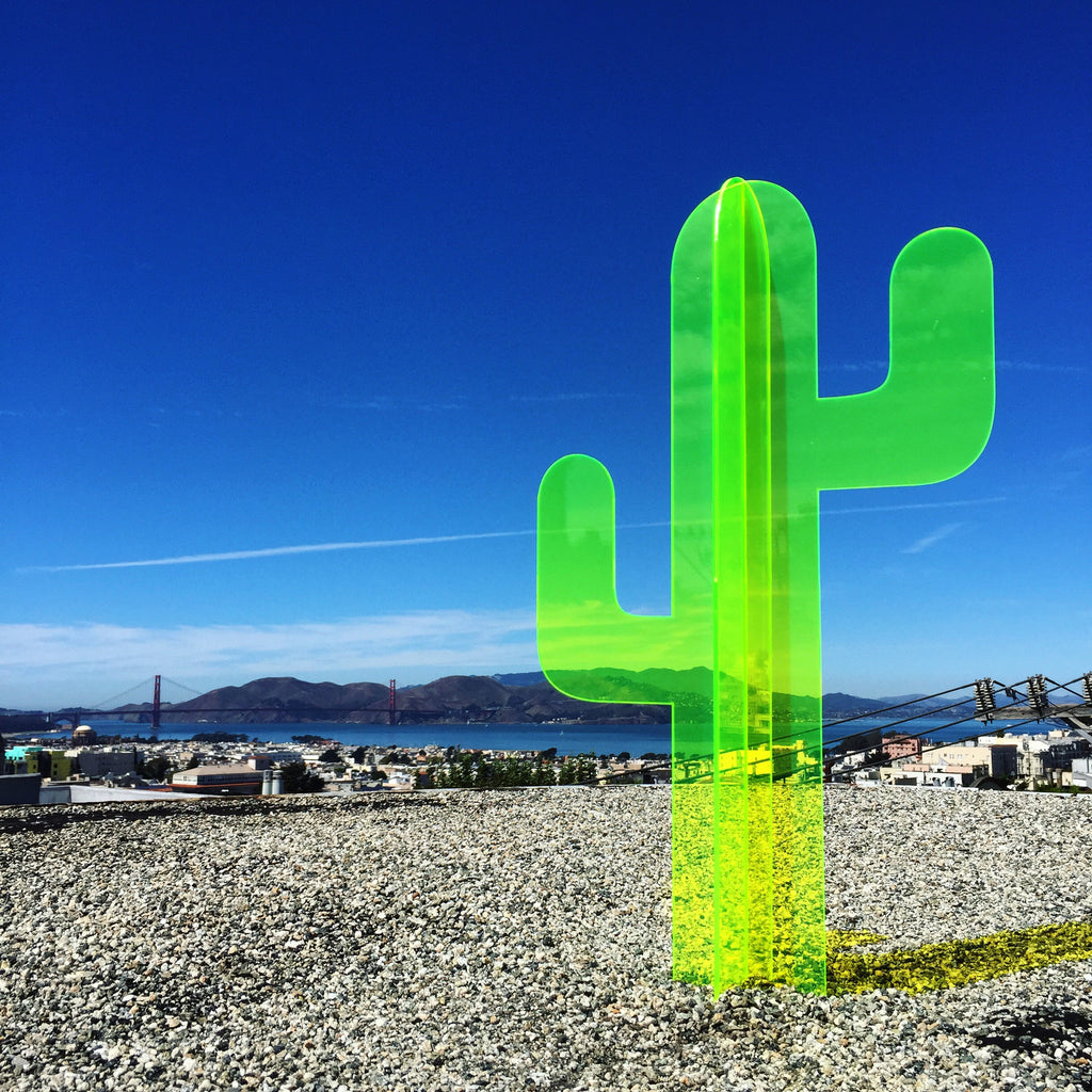 2ft Fluorescent Cactus Sculpture